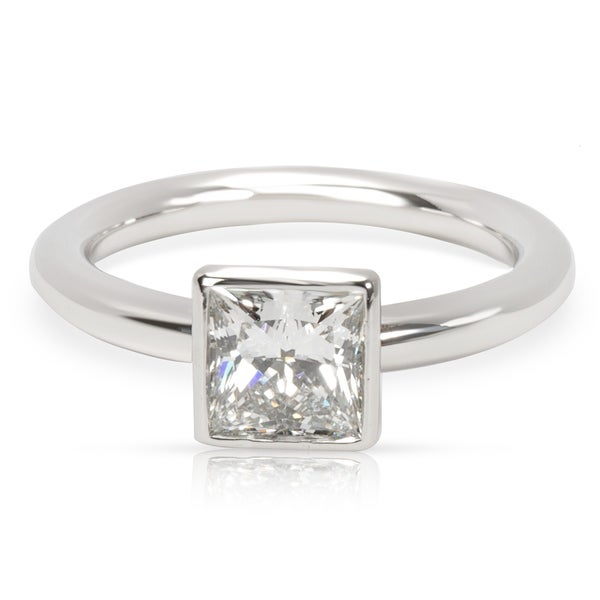8bd634a32aed Pre-Owned Tiffany  amp  Co. Princess Cut Bezel Set Diamond Engagement Ring  in