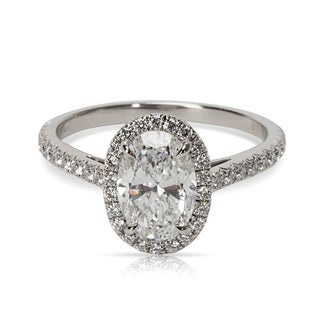 Pre-Owned Tiffany & Co. Oval Cut Diamond Engagement Ring in Platinum
