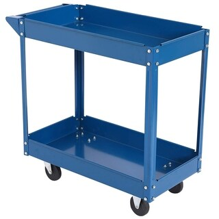 """Durhand 31"""" 2-Tier Rolling Tool Utility Cart With Handle"""