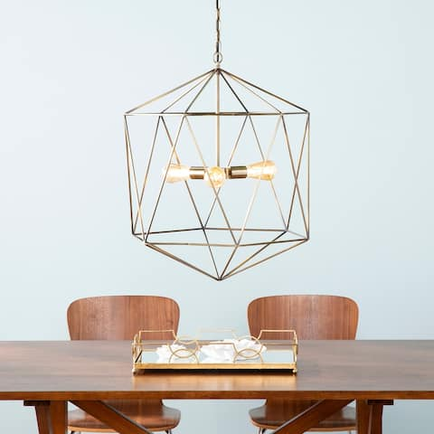 Carson Carrington Kristnes Geometric 3-light Pendant Light