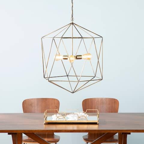 Carson Carrington Kristnes Geometric 3-light Pendant Lamp