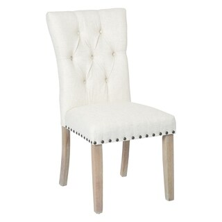 INSPIRED by Bassett Preston Dining Chair with Bronze Nailheads and Brushed Legs K/D