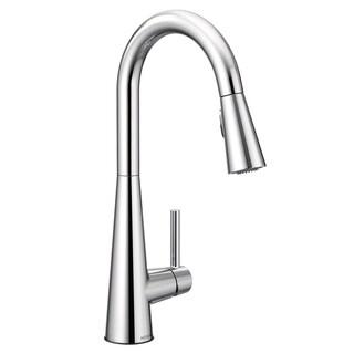 Moen Sleek One-Handle High Arc Pulldown Kitchen Faucet, Matte Black (7864BL)