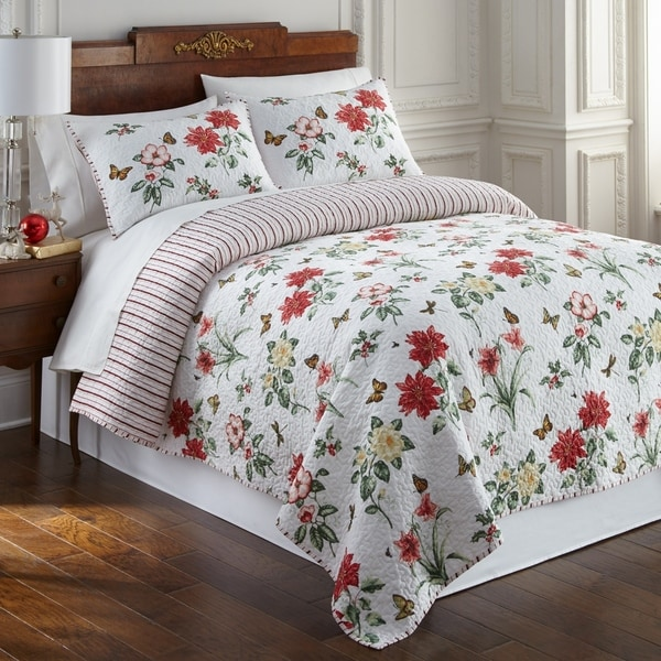 Shop Lenox Butterfly Meadow Christmas 3pc Quilt Set Free