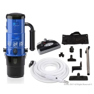 Prolux CV12000 Central Vacuum Unit System with Electric Hose Power Nozzle Kit and 25 Year Warranty
