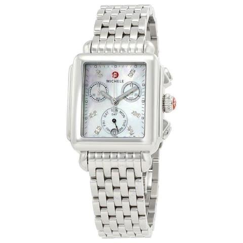 Michele Deco Diamond Dial Watch - One size