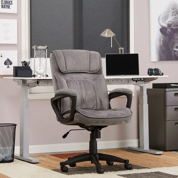 Shop Serta Executive Office Chair in Velvet Gray ...