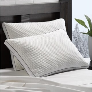 Arctic Chill Super Cooling Gel Fiber Pillow - White