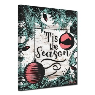 Link to Olivia Rose 'Christmas Tis the Season' Wrapped Canvas Textual Wall Art Similar Items in Christmas Decorations