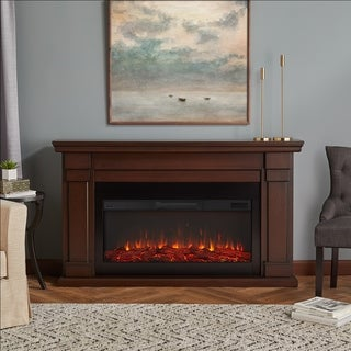 Carlisle Electric Fireplace in Chestnut Oak