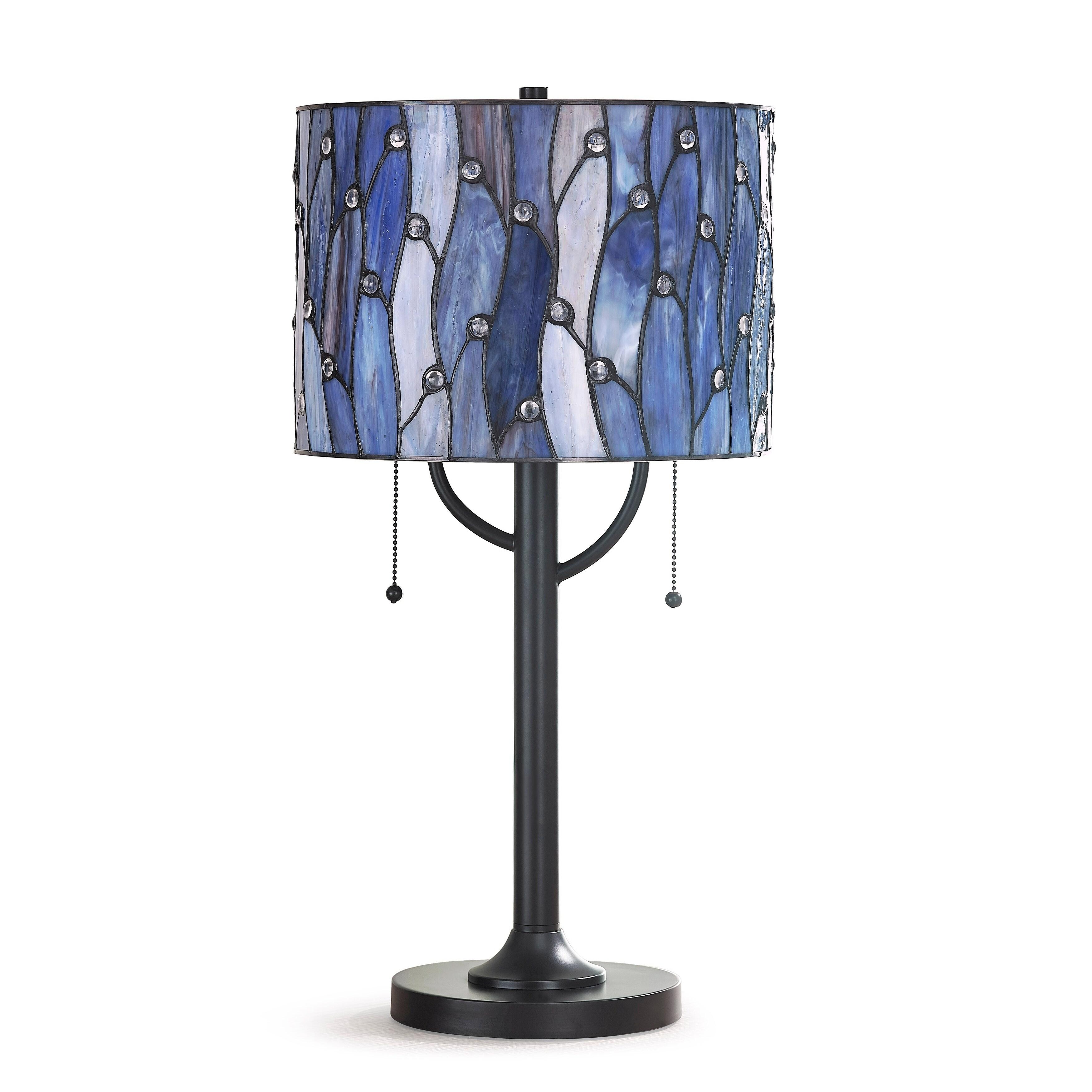 Vines 25 H Tiffany Table Lamp Blue Purple