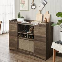 Furniture of America Thomas Rustic Wine Rack Server