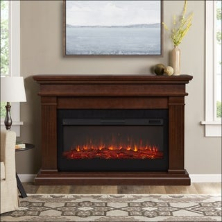 Beau 58.5-inch Electric Fireplace in Dark Walnut by Real Flame - N/A