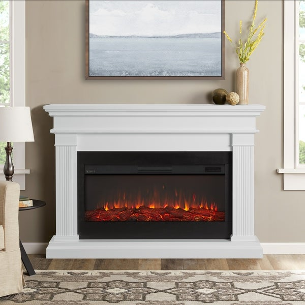 Shop Real Flame Beau White Electric Fireplace Free Shipping Today