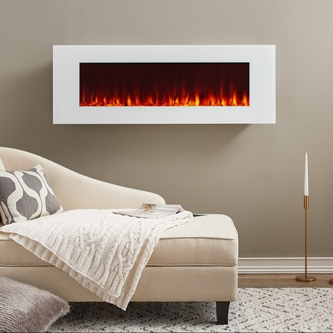 DiNatale Electric Fireplace in White by Real Flame - N/A