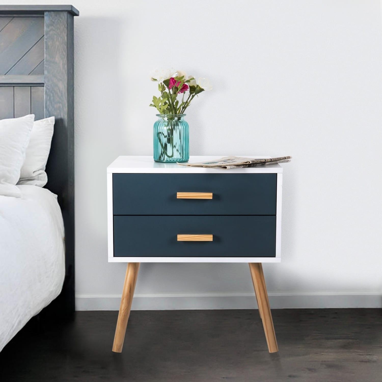 Kinbor Mid-century Modern 12-drawer End Table