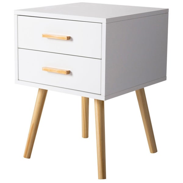Accent Tables For Bedroom: Shop Kinbor Night Stand Side Table Beside End Table Mid