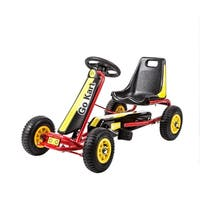Kinbor Kids Ride on Car Pedal Go Kart Racer Pedal Powered Car Ride on Toys Xmas Gift for Boys and Girls