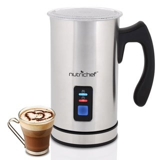 NutriChef 500W 2-in-1 Electric Milk Frother & Milk Warmer