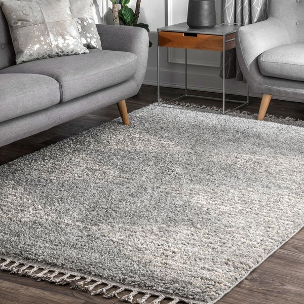Nuloom Gray Moroccan Boho Chic Aztec Lined Tel Area Rug 5 X27