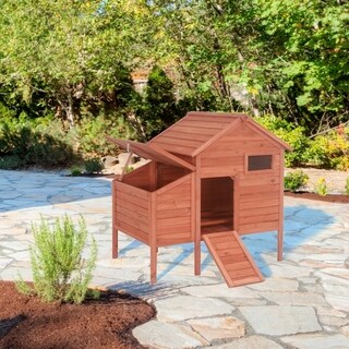 ALEKO Raised Fir Wood Chicken Coop 44 x 30 x 48 in Hutch