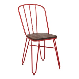 OSP Home Furnishings Charleston Chair with wood seat (set of 4)