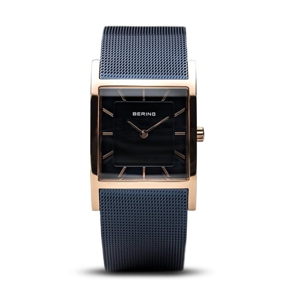 BERING Classic Slim Watch With Sapphire Crystal & Blue Stainless Steel Strap