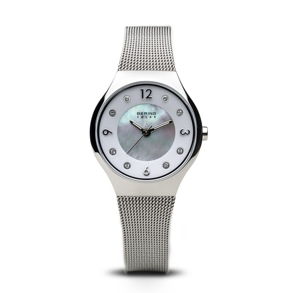 17cc37c13bf2 BERING Solar Slim Watch With Sapphire Crystal  amp  Silver Stainless Steel  Strap