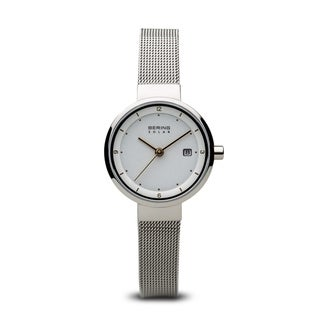 BERING Solar Slim Watch With Sapphire Crystal & Silver Stainless Steel Strap