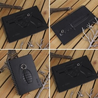 Black Vintage 60 Pages Notebook Diary Paper Writing Memo Students Office