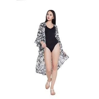 Dusty Blue Summer Beach Dress Bikini Cover Ups Womens Swimsuit Kimono