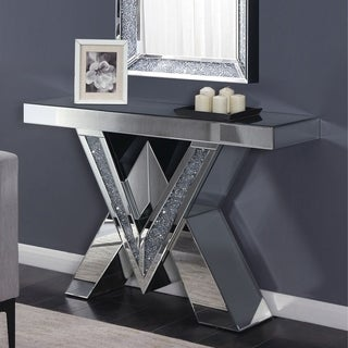 Furniture of America Anneka Mirrored Console Table