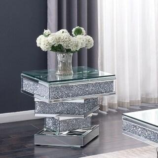 Furniture of America Aarika Mirrored End Table