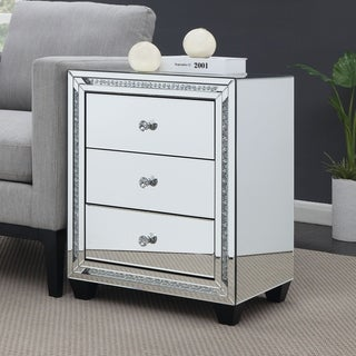 Furniture of America Fuji Contemporary Sliver 3-drawer Side Table