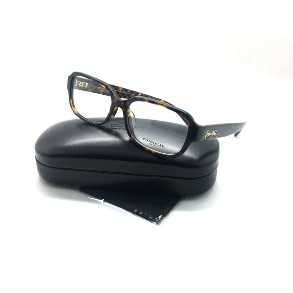 0028a7dbdc COACH 6105 5394 Eyeglasses Frame Glasses Dark Tortoise Horse  amp  Carriage  53mm