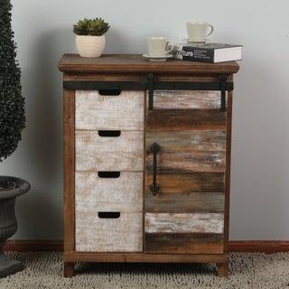 Rustic Chic Sliding Door Wood Cabinet