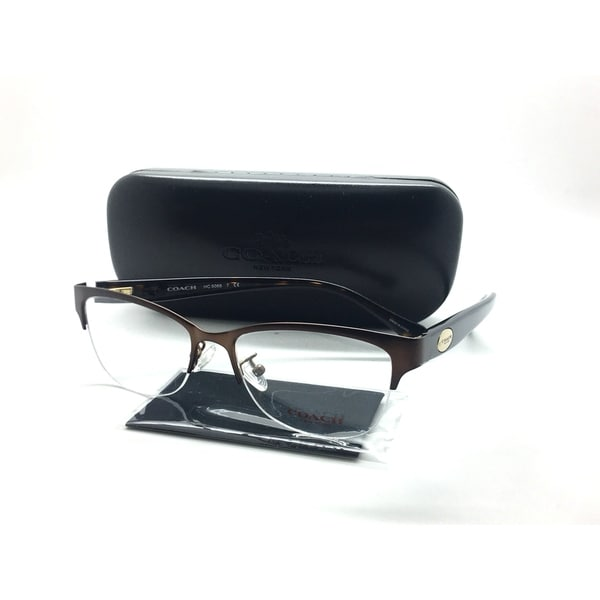b97a8affa30 Coach Semi Rimless Eyeglasses HC 5066 9155 Satin Brown Tortoise 51-16-135