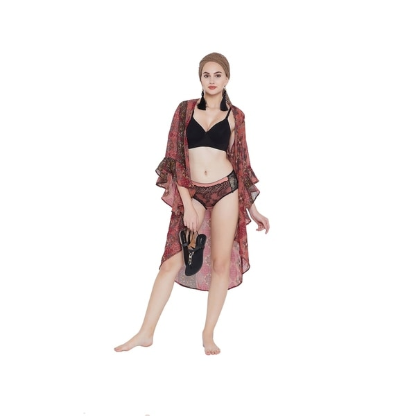 Canyon Rose Ups Cover Beach Dress Digital Kimono Swimwear Women