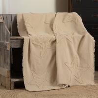 Farmhouse Decor VHC Cotton Burlap Star Throw Distressed Appearance