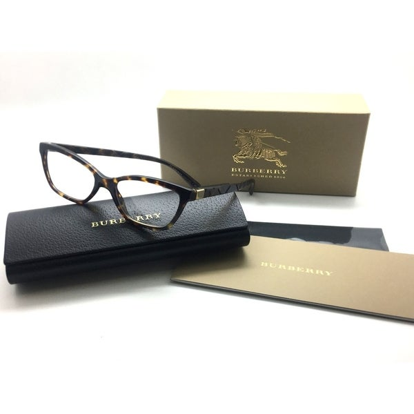 d5574af8e63d Shop BURBERRY Dark Womens Tortoise B 2221 3002 Eyeglasses Frame 51mm - Free  Shipping Today - Overstock - 23059407