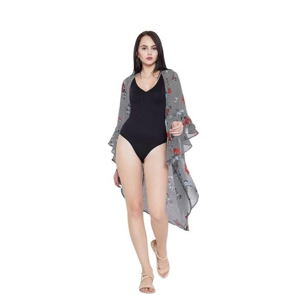 d71fffdece Black Women Kimono Swimsuit Bikini Beach Dresses Cover Up Bathing Swim