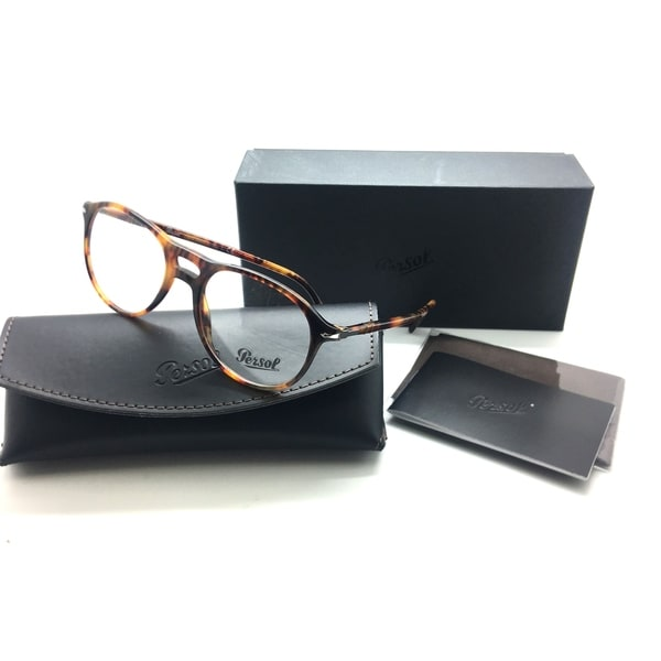 2fe1f312f644 Shop Persol Hande Made PO 3202 V 108 CAFFE Havana Eyeglasses 53MM - Free  Shipping Today - Overstock - 23059414