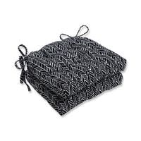 Pillow Perfect  Indoor Herringbone Night Reversible Chair Pad (Set of 2)