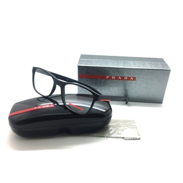 ebd3a1d585ad Shop PRADA SPORT VPS 08G DG0-1O1 52mm Matte Black Men s Eyeglasses ...