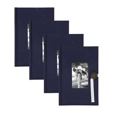DesignOvation Kim Fabric Photo Albums with Button - 300 photos
