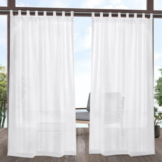 ATI Home Tao Outdoor Sheer Tab Top Curtain Panel Pair - 54X84