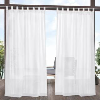 ATI Home Tao Outdoor Sheer Tab Top Curtain Panel Pair - 54X84