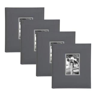 Link to DesignOvation Sleek Faux Leather Photo Album Set Similar Items in Albums