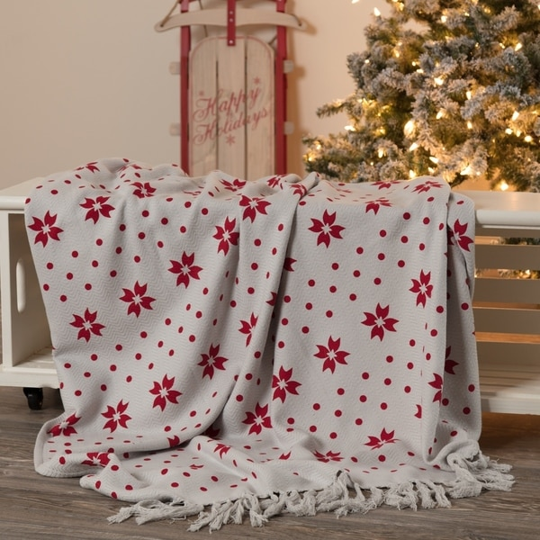 vhc grey farmhouse christmas decor nordic nice graphicprint woven throw - Overstock Christmas Decorations