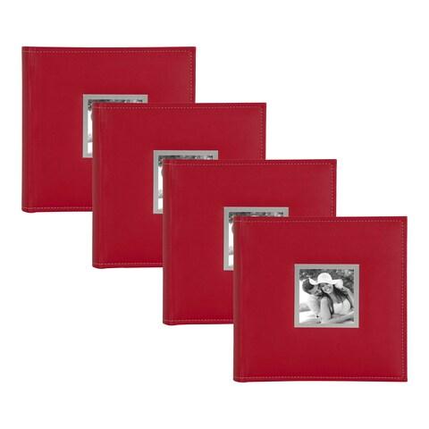 DesignOvation Sleek Faux Leather Photo Album Set
